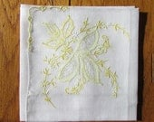 Vintage Detailed Handkerchief with cutout and yellow stitching
