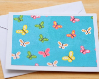 SAlE-Butterfly Mini Cards // Set of 4 // Blank Cards // Gift Card Envelopes // Love Notes // Gift Wrapping // Packaging // Scrapbooking