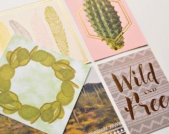 Desert Dreams Journaling Cards // Set of 7 // Boho // Inspirational Cards // Pocket Cards // Planner Cards // Scrapbooking