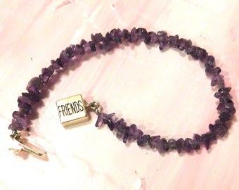 Friends Forever Amethyst and STERLING SILVER Bracelet