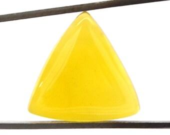 Yellow Onyx Cabochon Stone (21mm x 22mm x 6mm) - Trillion Cabochon - Gemstone Cabochon