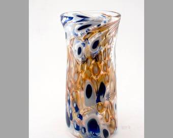 Blue and Gold Murrine Vase (Medium-Large)