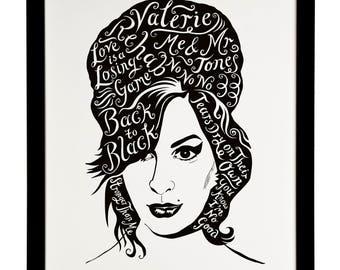 Amy Winehouse, British Musician print