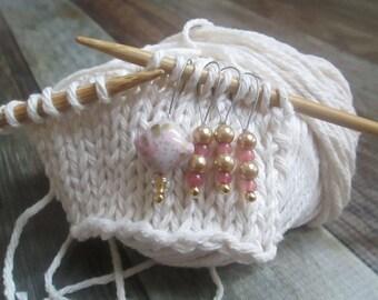 Snag Free Pink Triangle Stitch Markers
