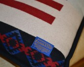 Pendleton® Pillow Large 20x20 Home of the Free home decor rustic cabin decorative pillow Native American Buffalo Flag Pendleton Wool Pillow