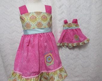 Girls birthday dress,  monogram Dress, photo shoot dress, availabe to order 12mos, 18mos 2T,3T,4T,5t