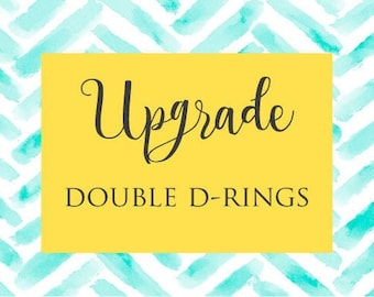 UPGRADES -Double D-rings for Dog Collar-