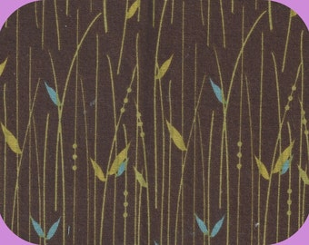 Cotton Fabric Remnant 17 x 18 Inch Quilting Browns Greens Blues