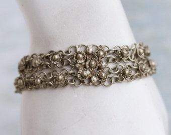 Indian Filigree Bracelet - Boho Links Bracelet
