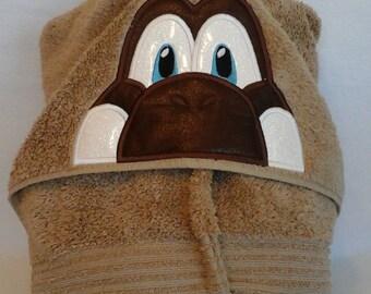 Land Before Time Dinosoar Hooded Towel