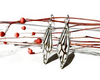 Rice Paper Butterfly Earrings Real Wings