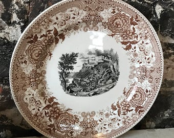 Antique Villeroy and bach Transferware plate