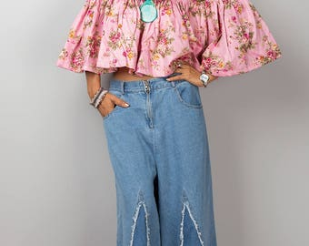 Shoulderless top, off the shoulder top, off shoulder top, summer top, open shoulder top, pink top, crop top, beach wear, festival outfit