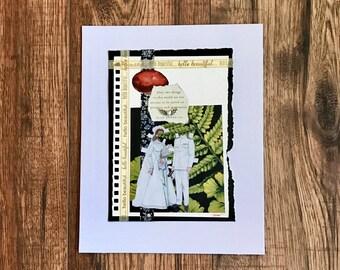 Irish Verse, Collage Art, Collage, Original Art, Potato, Matrimony, Irish Wedding