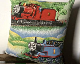 Cushion made from Thomas and Friends Fabric