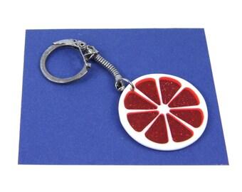 Blood Orange Grapefruit KeyNecklaces Miniblings Necklace Key Ring rot