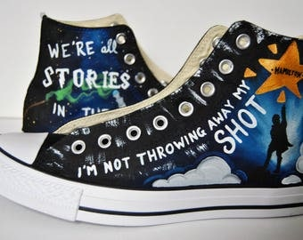 Converse, Custom Painted Shoes, High Top and Low Top, Mens, Womens