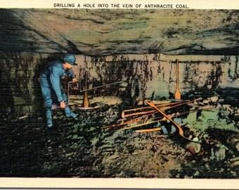 Coal Miner, Coal Mines, Anthracite Coal - Linen Postcard - Postcard - Unused (Z)