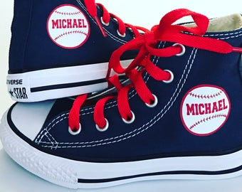 Personalized Baseball Custom Chuck Taylor Converse Youth Shoes