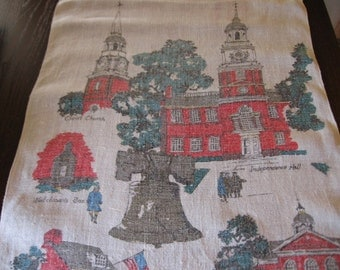 Philadelphia Historical Souvenir Tea Towels