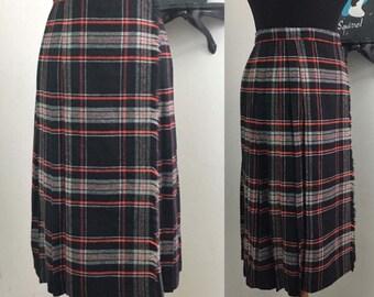 Classic 1970s wool blanket wrap-skirt