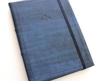 Blue Leather A5 Journal w/ Tomoe River