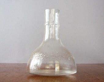 Vintage iittala / Nuutajarvi Niva Glass Decanter / Carafe - Tapio Wirkkala