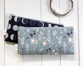 Zipper Pouch, Moon Cycle, Pencil Pouch, Make Up Bag,  Nature, Butterfly, Floral, School Supplies, Teens, Women, Organize, Gift For Her, Moon