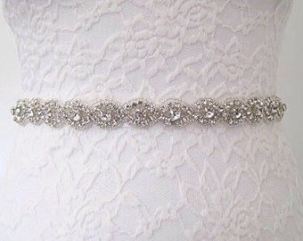 All around bridal sash, full length wedding belt