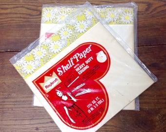 Vintage Kitchen Shelf Paper 2 Pkg. Unused Lacy Daisies 1950-60 Decorative Cabinet Liner