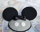 Grey Mickey Tuxedo FascinEars™ Fascinator With Ears- Original Design By Hat And Mouse