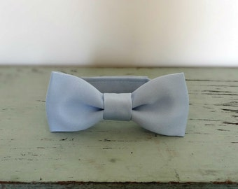 Light Blue Newborn Baby Bow Tie Photo Prop, Child Satin Bow Tie with Velcro Closure, Any size, Made To Order