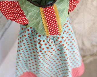 Strawberry Market Ruffle Front Dress
