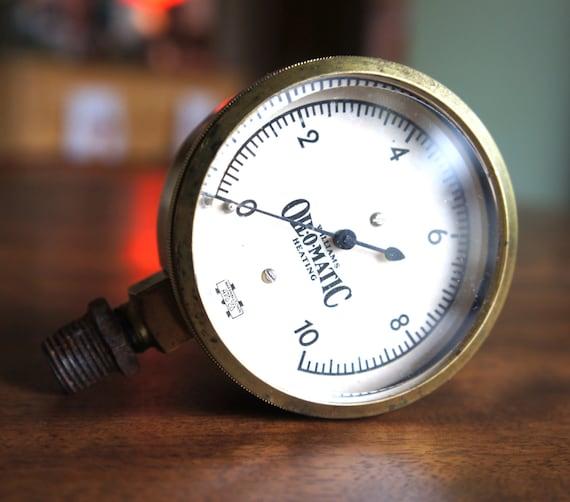 Steampunk oil o matic pressure gauge williams heating - Steampunk pressure gauge ...