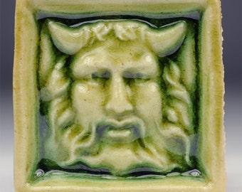 Satyr Greenman Tile