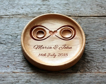 Wedding Ring Holder Bearer Pillow Wedding ring plate dish Ring bearer pillow alternative Wedding ring box Wedding Anniversary Gift Infinity