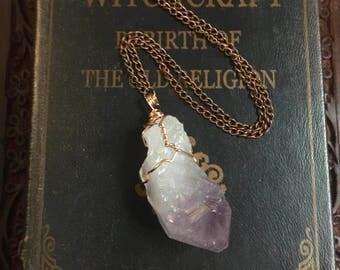 Healing Crystal Necklace, amethyst,raw amethyst necklace,crystal necklace, amethyst bracelet ,quartz necklace,amethyst necklace silver