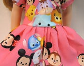 Mickey and Friends Tsum Tsum, Pink Short Sleeved Dress for your 14.5 Inch Doll A
