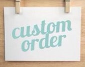 CUSTOM LISTING To Candice