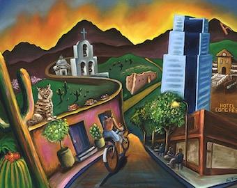 Tucson Glowing Canvas Print