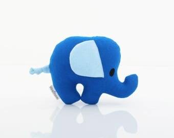 Elephant Pillow - Elephant Toy - Elephant Plush - Elephant Doll (Blue)