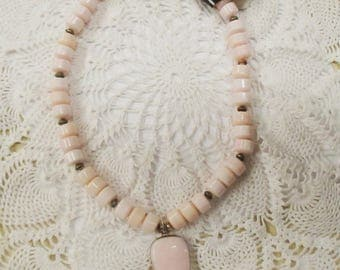 Pink Opal Necklace/Earring Set