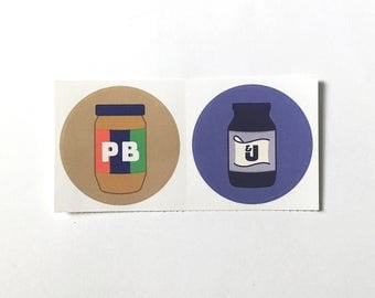 PB&J Sticker Set | peanut butter jelly
