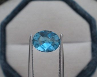 Swiss Blue Topaz Oval Cabochon Natural Loose Gem 9x7mm