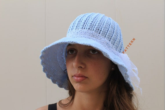 Crocheted Cloche Hat Pdf Handmade Wide Brimmed Hat Pattern