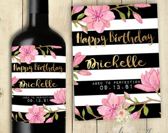 Happy Birthday Wine Label PRINTABLE
