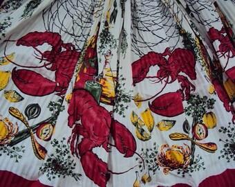 Lowenstein Bonafab Everpleat Lobster Apron, Circa 40s w/Tag, Unused