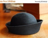 30% OFF SALE vintage 1960s Mr. John black wool hat