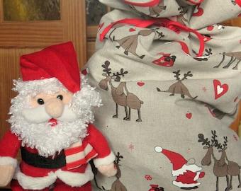 Christmas Gift Bag Merry Christmas Gift Wrapping Gift Bags Medium Large Fabric