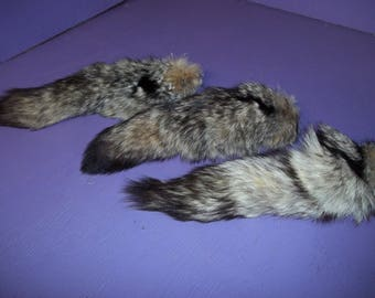 Real animal tanned skin fur parts hide Kit Fox Tail taxidermy rug pelt regalia supply